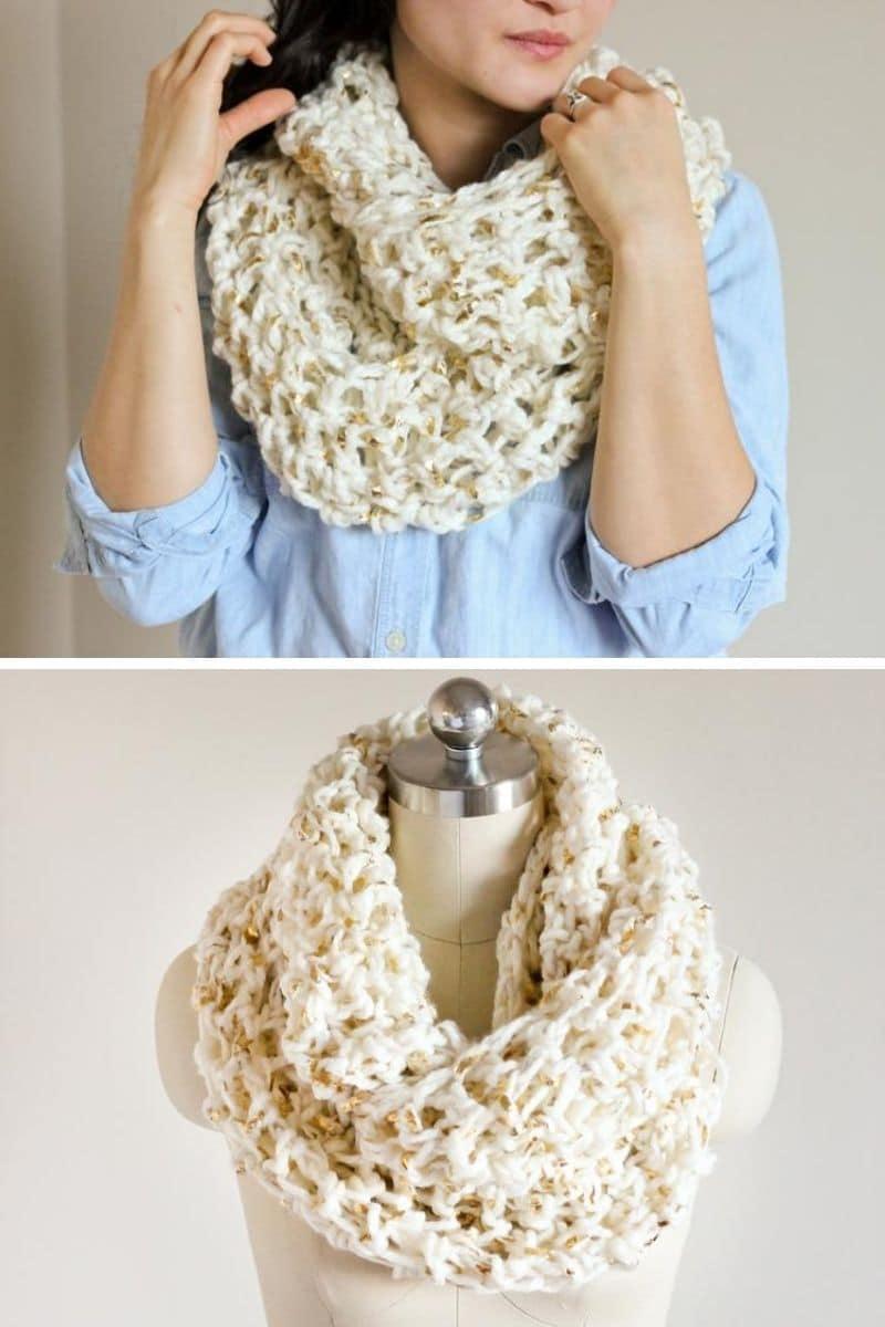 Cream chunky scarf