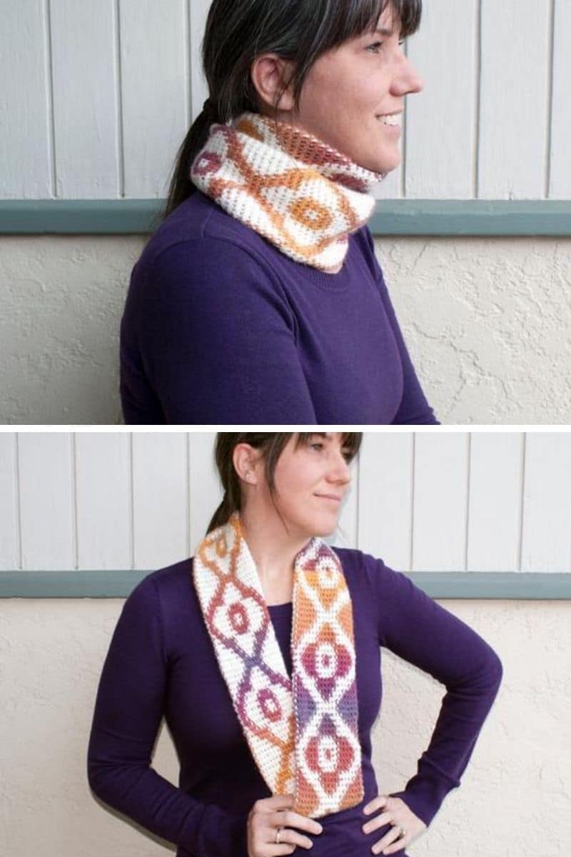 Sunset diamond scarf