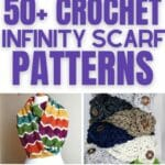 Crochet infinity scarf patterns collage