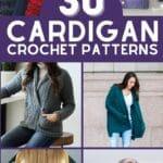 Crochet Cardigan Patterns collage