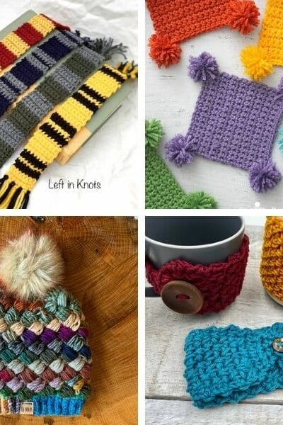 Crochet gift patterns collage