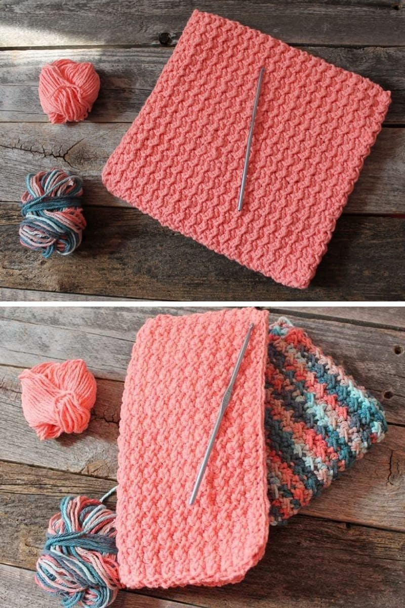Peach potholder