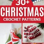 Christmas pattern collage