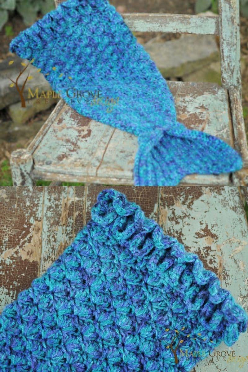 Crochet mermaid tale