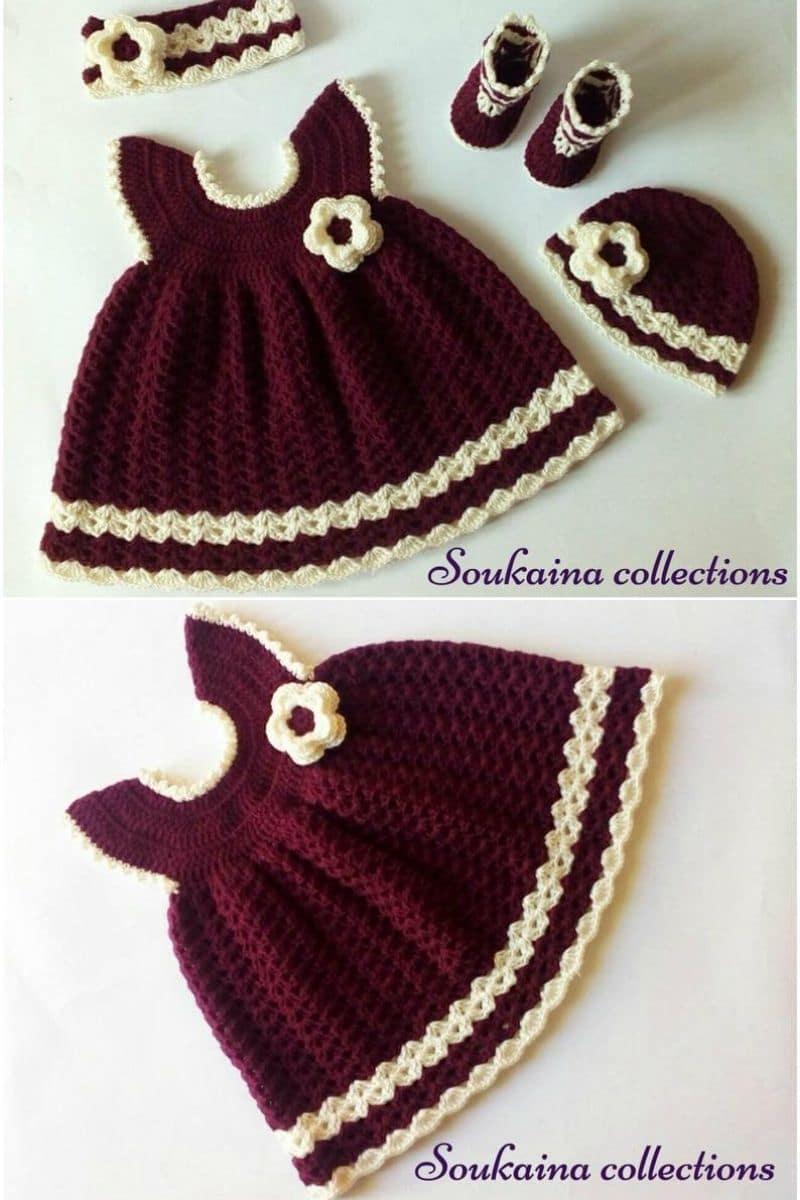 Crochet red dress
