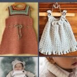 Baby clothes crochet pattern collage