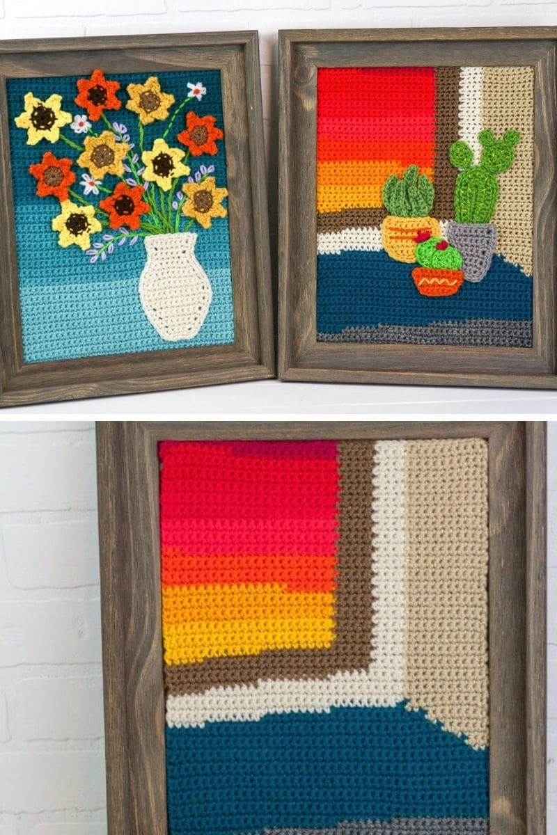 Crochet paintings