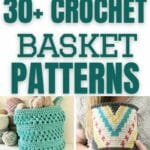 Crochet basket patterns collage