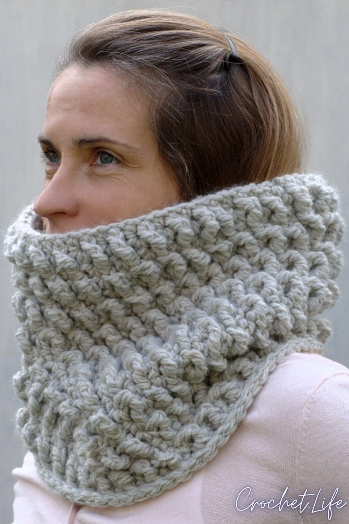 Woman in cowl