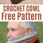 Crochet cowl collage