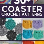 Crochet coaster patterns collage