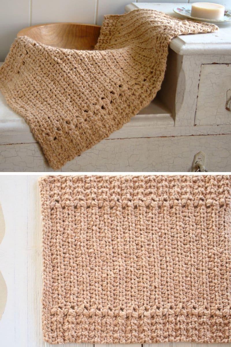 Brown kitchen towel