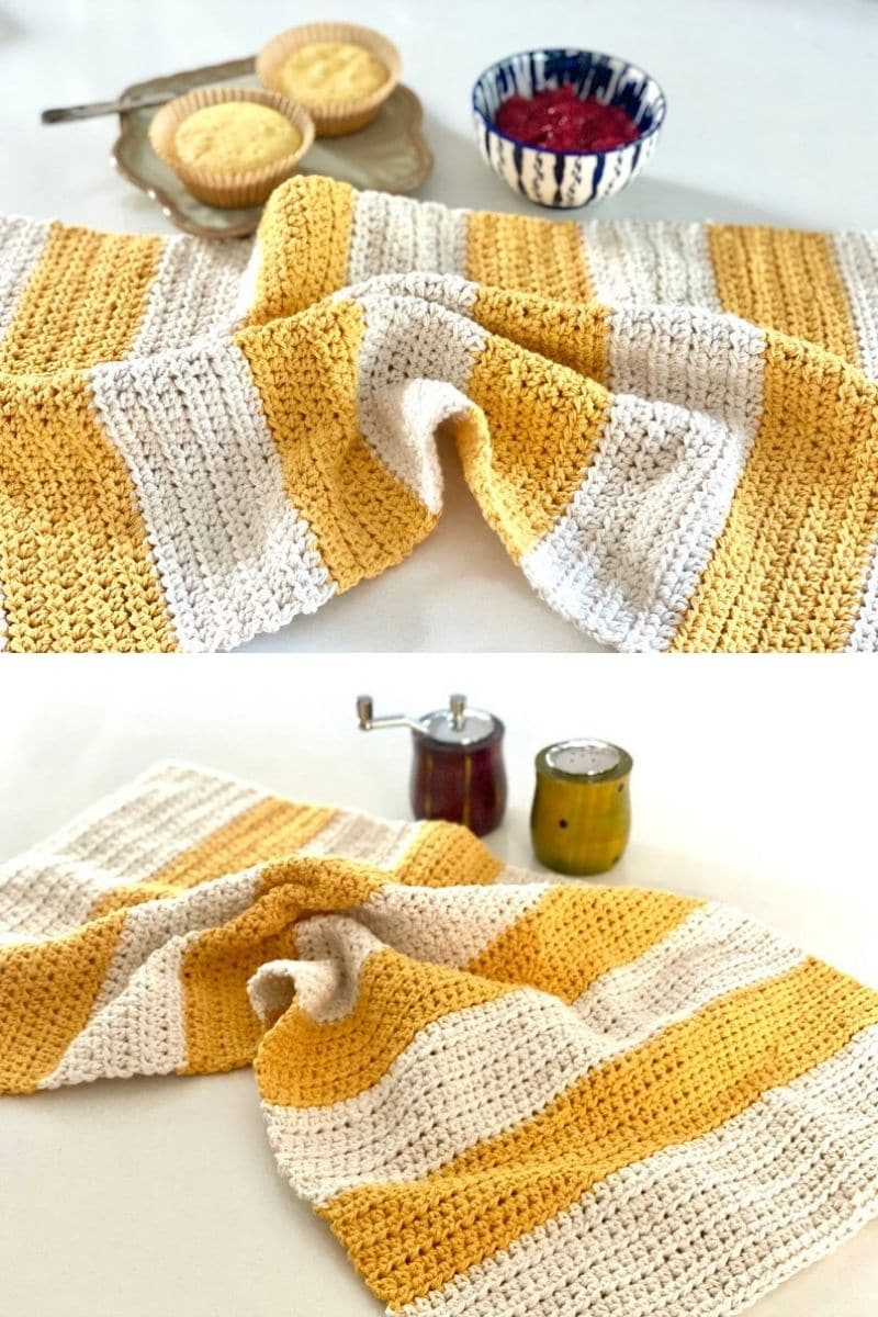 Striped yellow towel