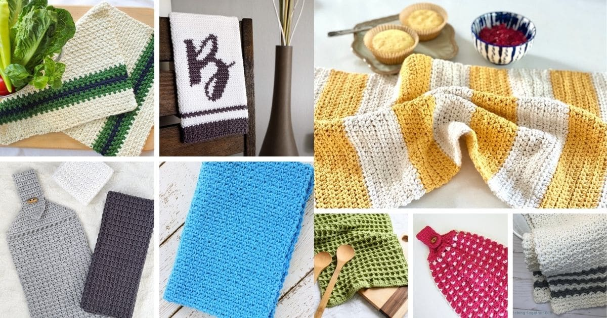 Kitchen towel collage
