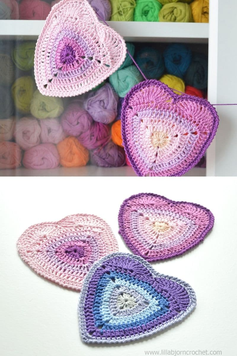 Ombre heart coasters