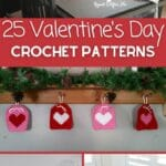 Valentine's Day crochet collage