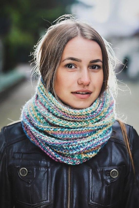 Wool scarf cowl Alpaca scarf Cowl scarf wool Wool cowl Scarf | Etsy
