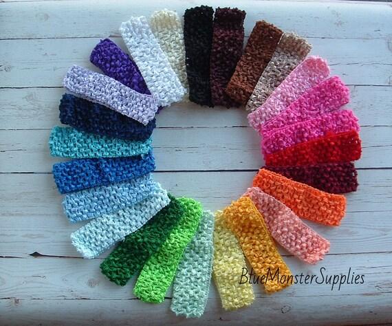 Crochet Baby Headband 1.5 Waffle Crochet Interchangeable   Etsy