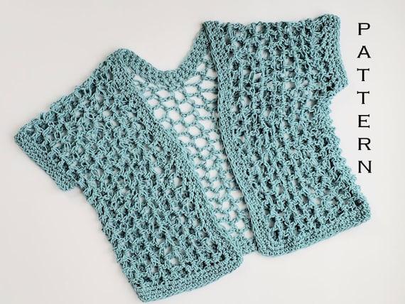 Crochet Shrug PATTERN Quick Lattice Cardigan Easy Shrug | Etsy