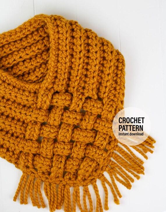 CROCHET PATTERN X Crochet Woven Cowl X PDF Pattern only | Etsy