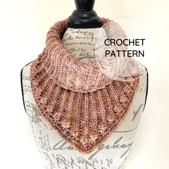 Victoria Cowl PDF CROCHET PATTERN Textured Neckwarmer | Etsy