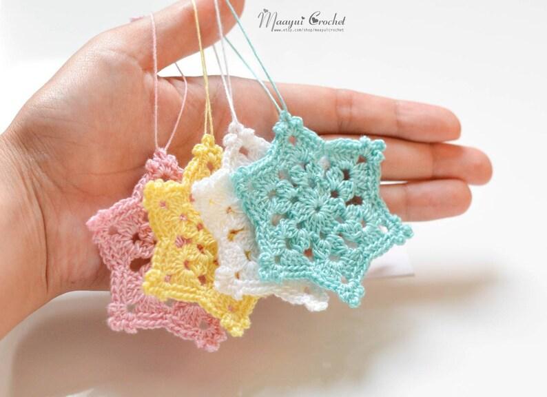 8pcs Handmade Crochet snowflake ornamentschristmas tree | Etsy