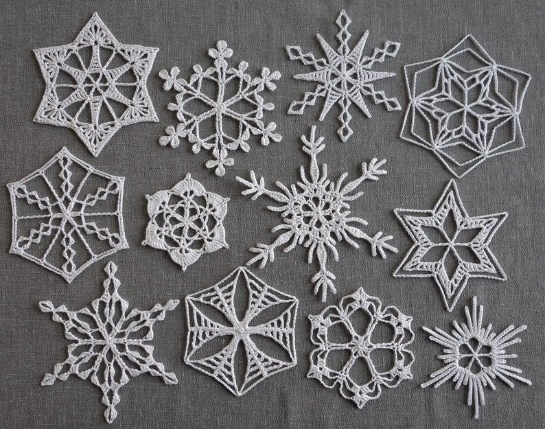 Snowfall Crochet Along 2019: an eBook of Crocheted Snowflakes | Etsy