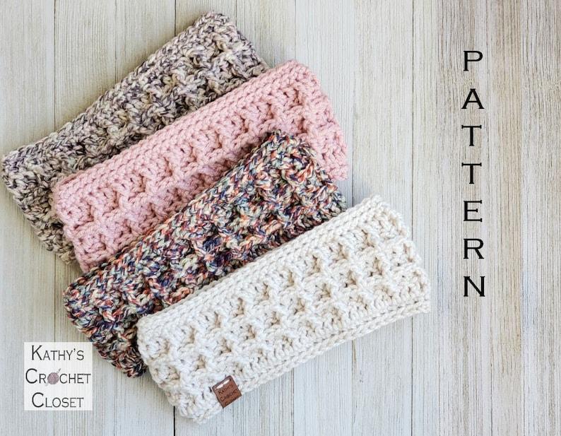 Crochet Headband PATTERN Market Waffle Headband   Etsy