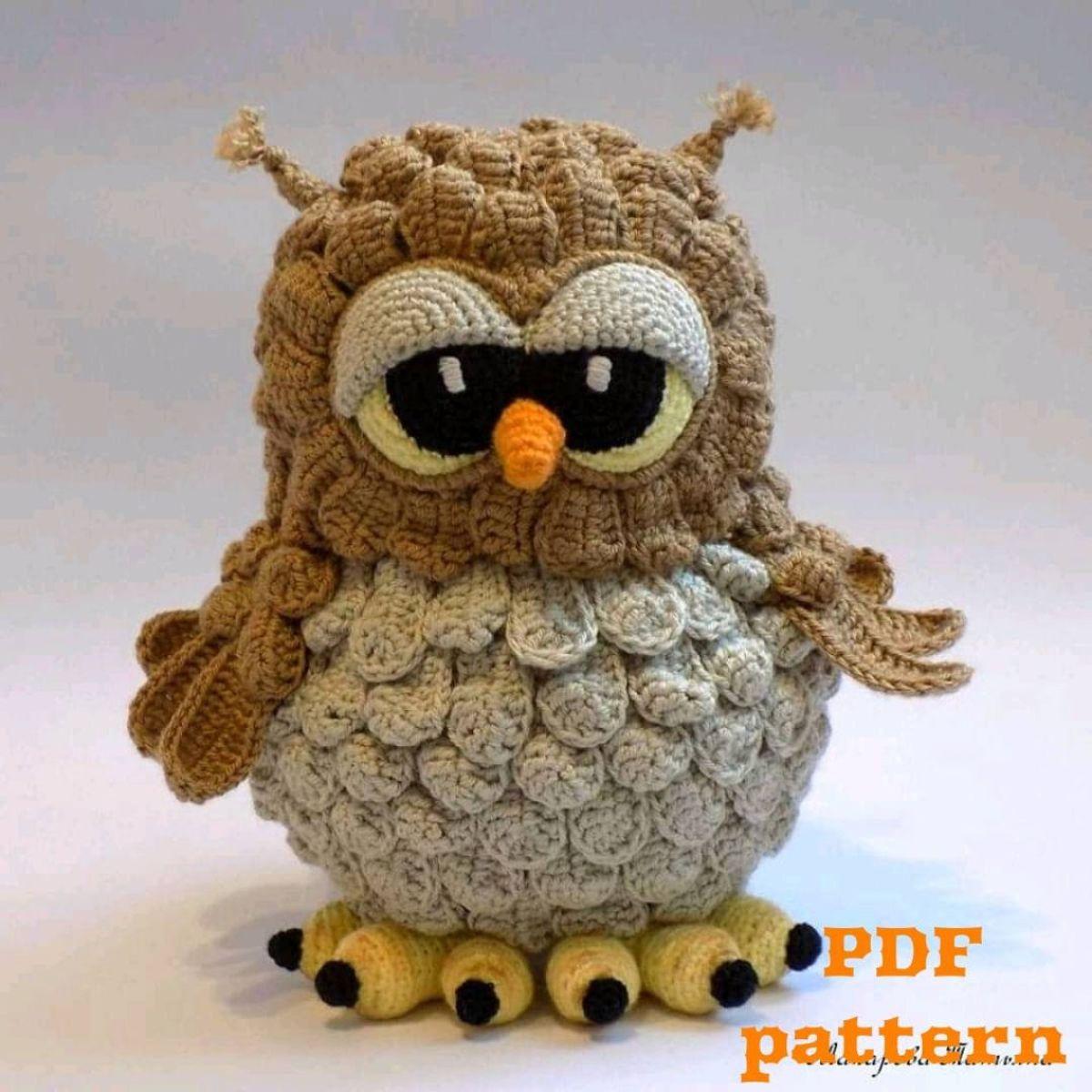 Crochet Pattern Owl - English PDF Pattern