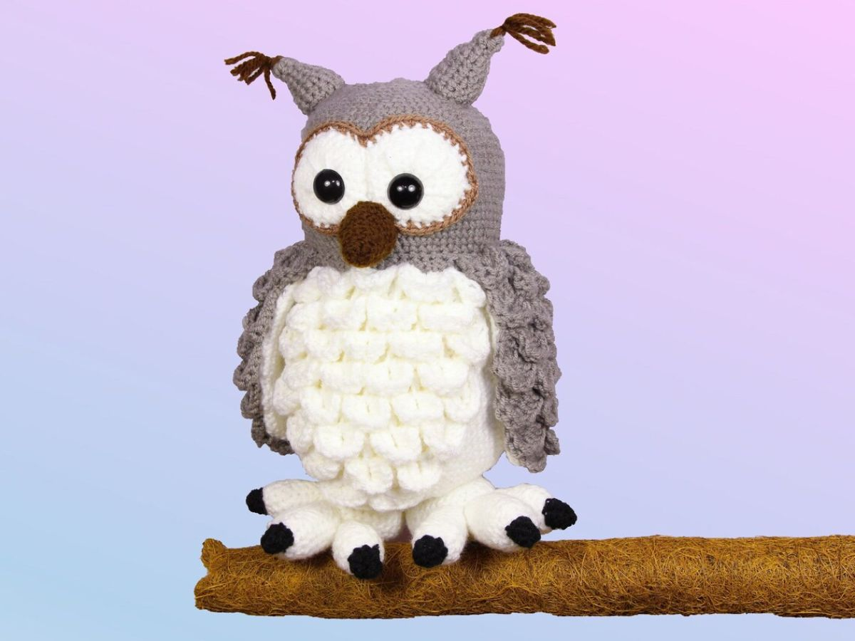 Fluffy Snowy Owl Hedwig - Crochet Pattern
