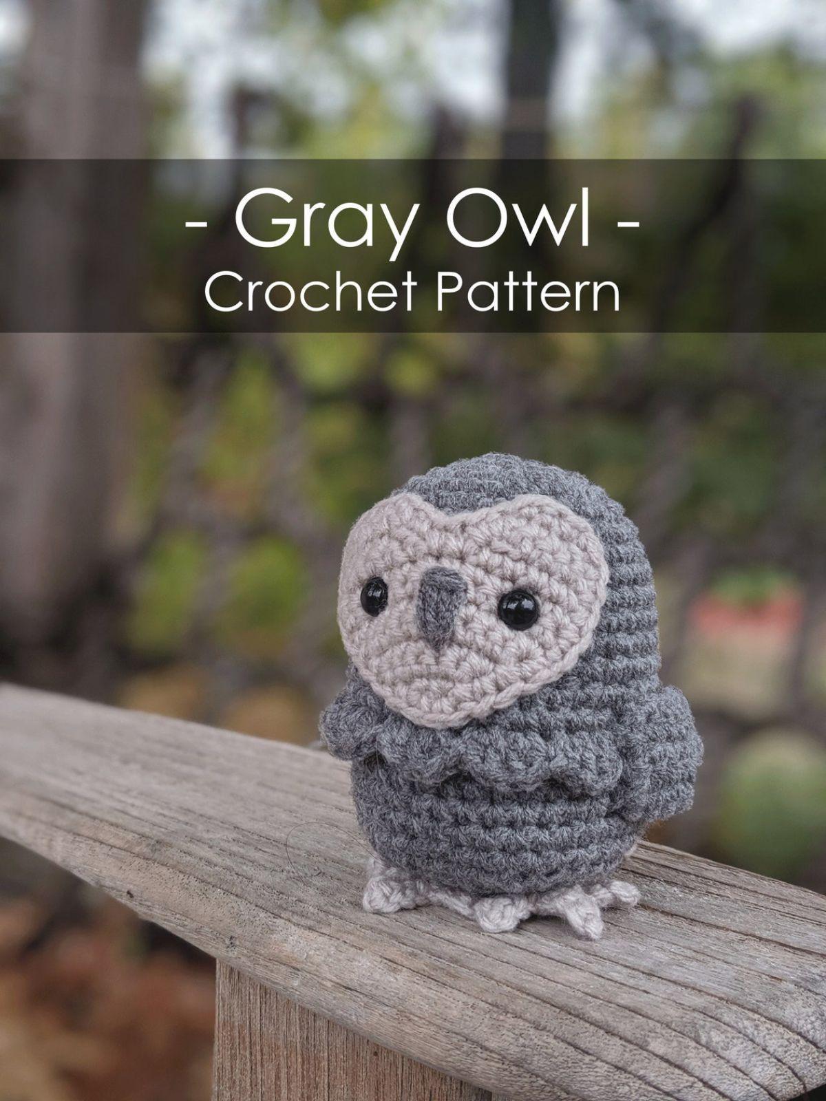 Gray Owl - Crochet Pattern