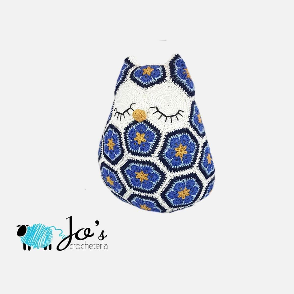 Maggie the African Flower Owl - Crochet Pattern